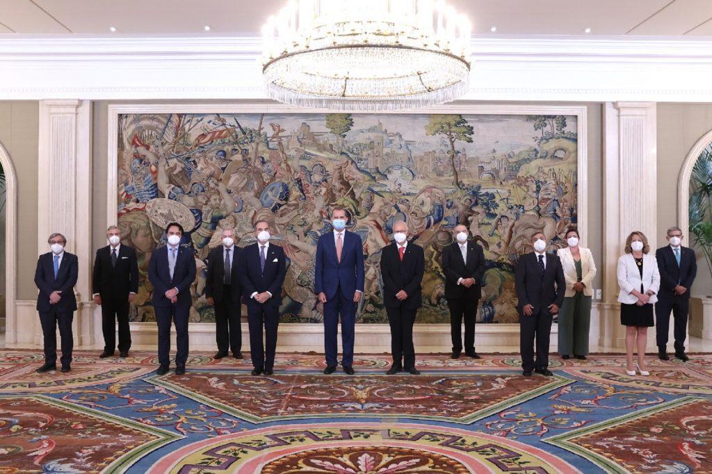 Audiencia del Rey a la junta directiva de la UICM